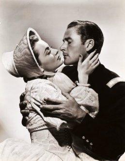 Portrait of Olivia de Havilland and Errol Flynn for Santa Fe Trail