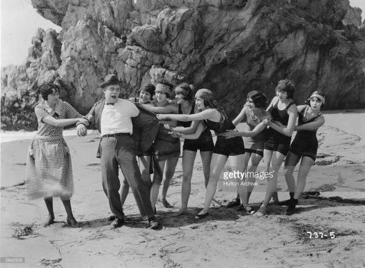 Sennett's Bathing Belles on the beach