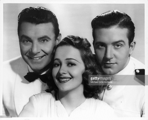 With George Brent and John Payne in Wings of the Navy 1939
