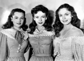 With Ida Lupino and Nancy Coleman in Devotion (1946)