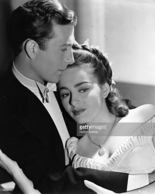 with Jeffrey Lynn in the film 'My Love Came Back' 1940