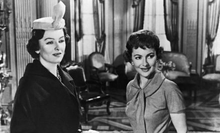 With Myrna Loy in The Ambassador's Daughter 1956