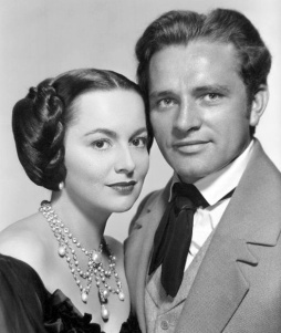 With Richard Burton in My Cousin Rachel 1952