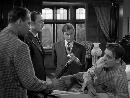 Bellamy with Warren William, Claude Rains and Lon Chaney, Jr. in THE WOLF MAN