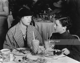 Freddie Bartholomew (1924 - 1992) eating lunch with his aunt Millicent Bartholomew at the MGM commissary