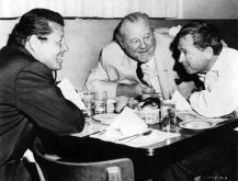 Jack Carson, Burl Ives and Mickey Rooney at MGM