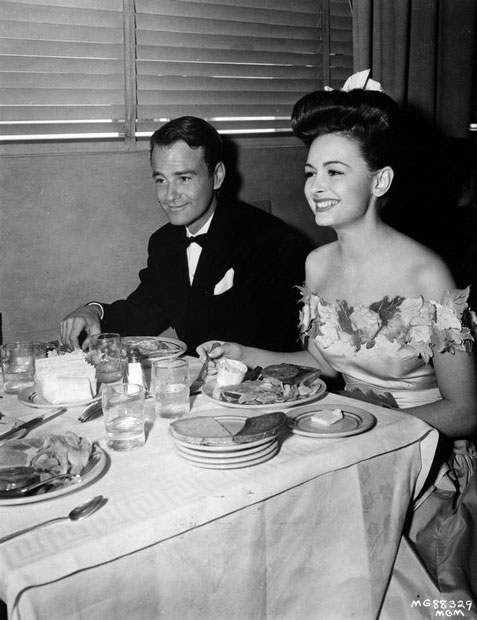 Lew Ayres and Donna Reed at MGM