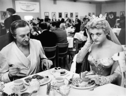 Rathbone and Lansbury at the Paramount Commissary 1954