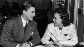 Ronald Reagan and Margaret Lindsay at WB