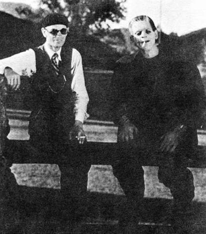 Whale and Karloff take a break in 1931