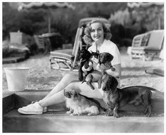 Carole with her dogs