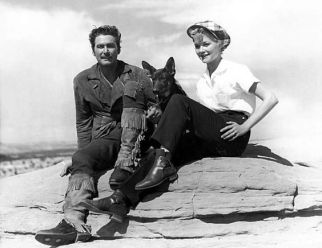 Errol Flynn with wife Patrice Wymore