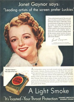 Janet Gaynor says...