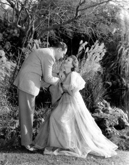 Janet Gaynor with Fredric March in %22A Star is Born%22