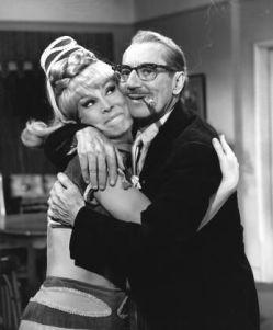 With Barbara Eden