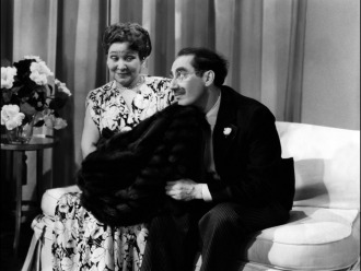 With Margaret Dumont