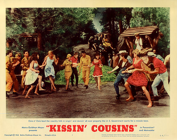 SEVEN BRIDES FOR SEVEN BROTHERS need not be threatened by KISSIN COUSINS, but there are a few semi-decent production numbers you might enjoy here.