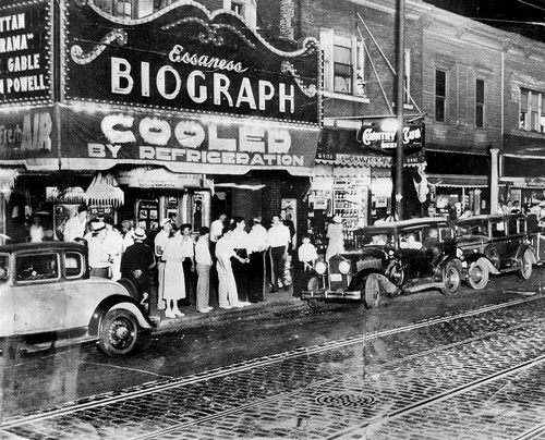 The Biograph Theater on Lincoln Avenue where Dillinger was slain by FBI bullets in 1934. Tribune archive photo. .OUTSIDE TRIBUNE CO.- NO MAGS, NO SALES, NO INTERNET, NO TV, CHICAGO OUT..00297206A Marvelous Marquees
