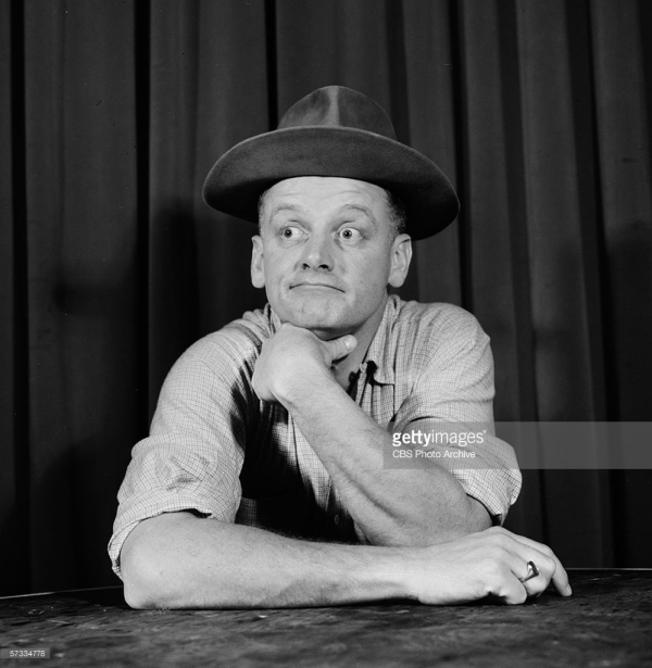 Art Carney (as Ed Norton) of THE HONEYMOONERS. Image dated March 1955. Copyright CBS Broadcasting Inc. All Rights Reserved. Credit: CBS Photo Archive. Code 7420.