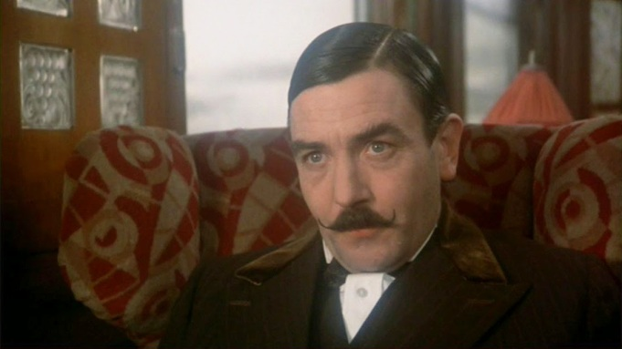 Albert Finney plays Hercule Poirot in Murder on the Orient Express