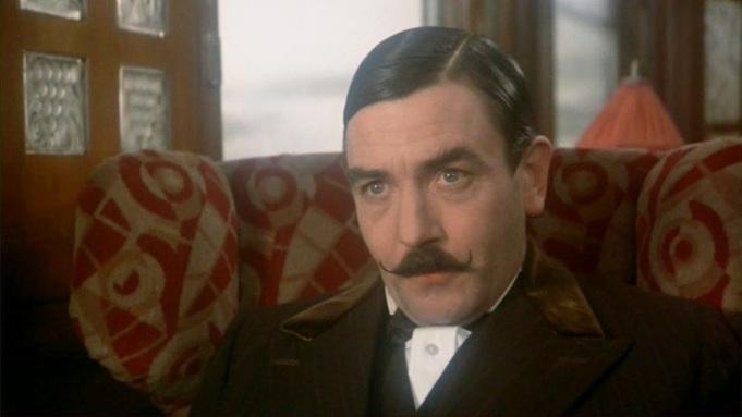 Albert Finney plays Hercule Poirot in Murder on the Orient Express