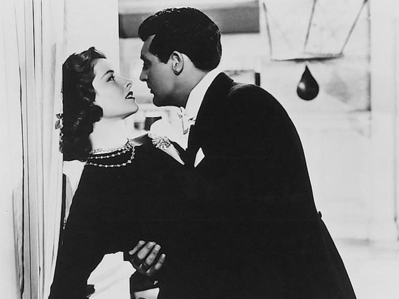 Katharine Hepburn and Cary Grant in Holiday - IMO their most romantic pairing.