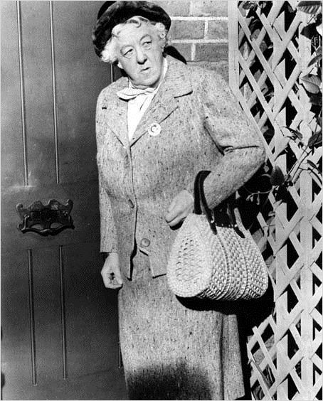 It took her several decades to make a film appearance, but Margaret Rutherford as Miss Marple charms and entertains