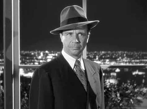 Dick Powell is Philip Marlowe in Murder, My Sweet