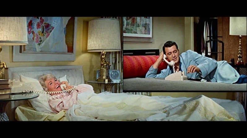 Doris Day and Rock Hudson pillow talking