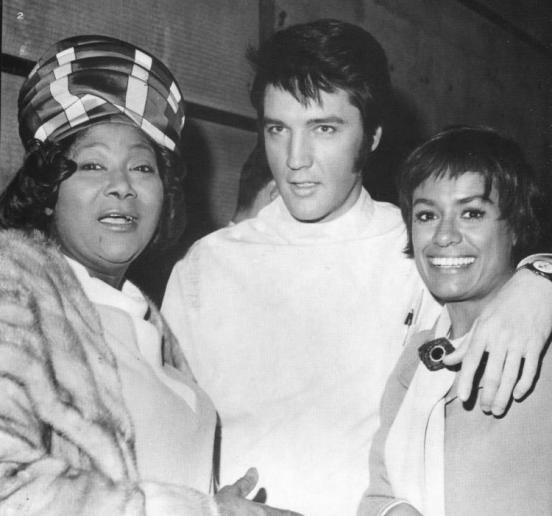 So much talent in this picture - the great Mahalia Jackson visited the set of Change of Habit and here she is with Elvis and Barbara McNair.