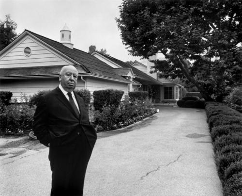 Hitch at his Bel Air home