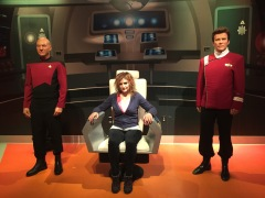Annmarie was Captain of the Enterprise for a moment