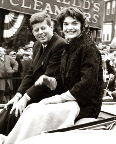 Jackie and John F. Kennedy, Boston St. Patrick's Day Parade in 1958