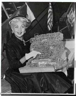 A flower typewriter for Ann Sothern