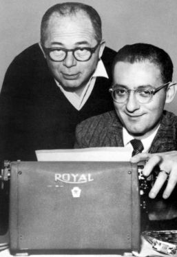 BILLY WILDER and frequent screenwriter partner, I.A.L. DIAMOND.