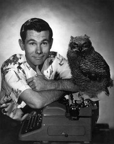 Carson and an owl