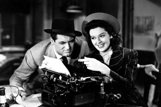 His Girl Friday and him