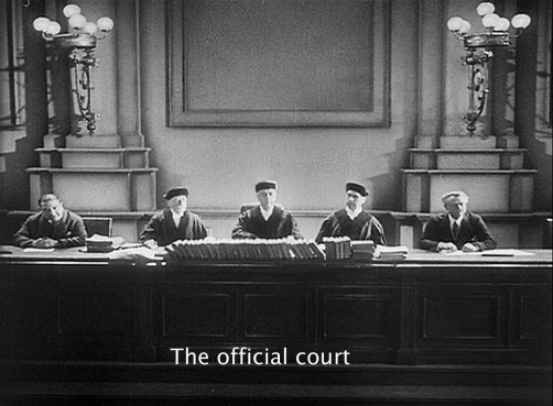 Official judges in Fritz Lang's M