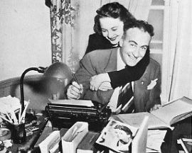 Olivia de Havilland with first husband Marcus Goodrich