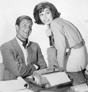 Dick Van Dyke and Mary Tyler Moore in their roles on The Dick Van Dyke Show.