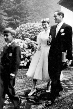 Audrey Hepburn and Mell Ferrer