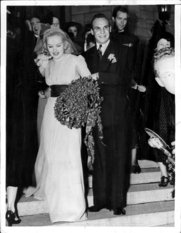 Betty Grable weds Jackie Coogan