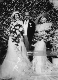 Carmelita Geraghty weds Carey Wilson - here with maid of honor, Jean Harlow