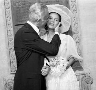 Dorothy Dandridge and Jack Denison after Wedding