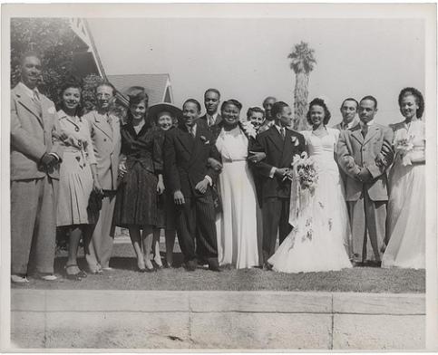 Dorothy Dandridge weds Harold Nicholas. Famous guest to Harold's left