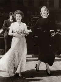 Edith Piaf and her matron of honor Marlene Dietrich