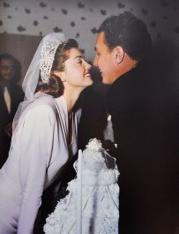 Esther Williams and Ben Gage on their wedding day