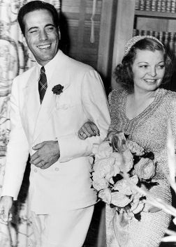 Humphrey Bogart & Mayo Methot on their wedding day,
