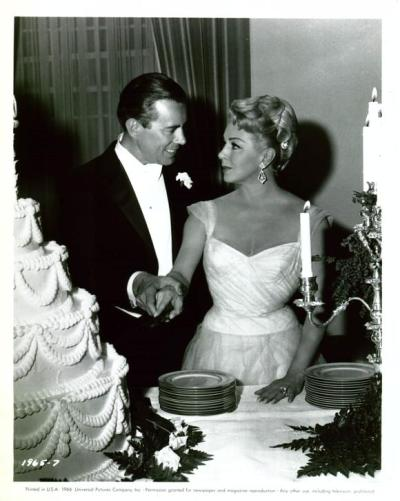 John Forsythe and Lana Turner in MADAME X