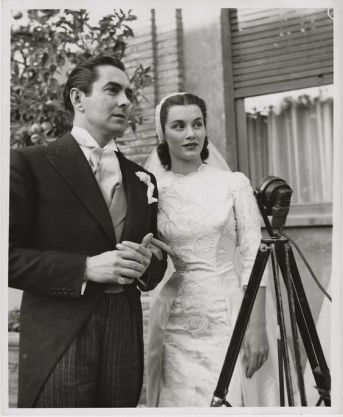 Linda Christian marrying Tyrone Power